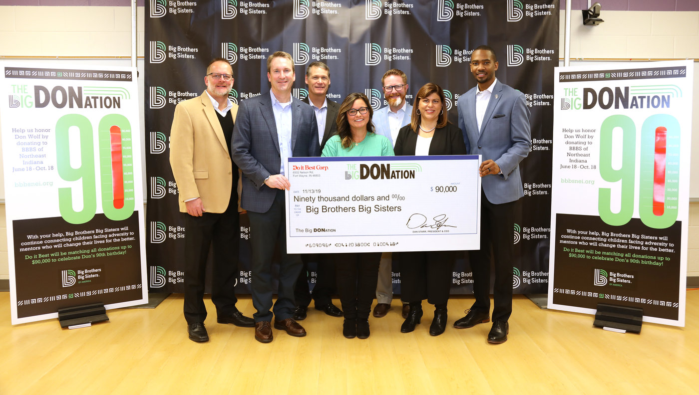 Do it Best Corp. matched $90,000 in donations to Big Brothers Big Sisters of Northeast Indiana.