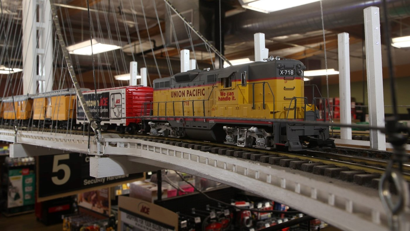 """Downtown Walnut Creek Hardware is known as """"The Ace with the Train."""""""