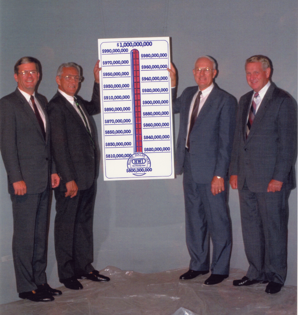 HWI reached $1 billion in sales in 1989.