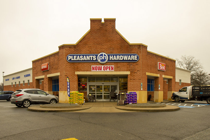 The new Pleasants Hardware store formerly housed Rite Aid.
