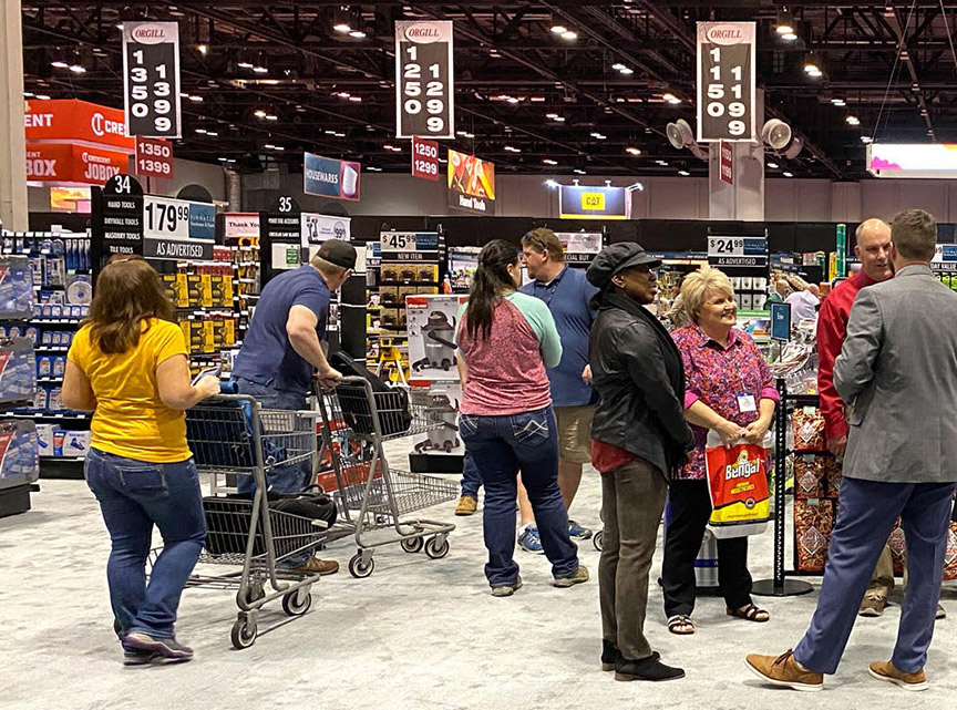 Orgill retailers saw best-in-class merchandising at two model stores on the show floor.
