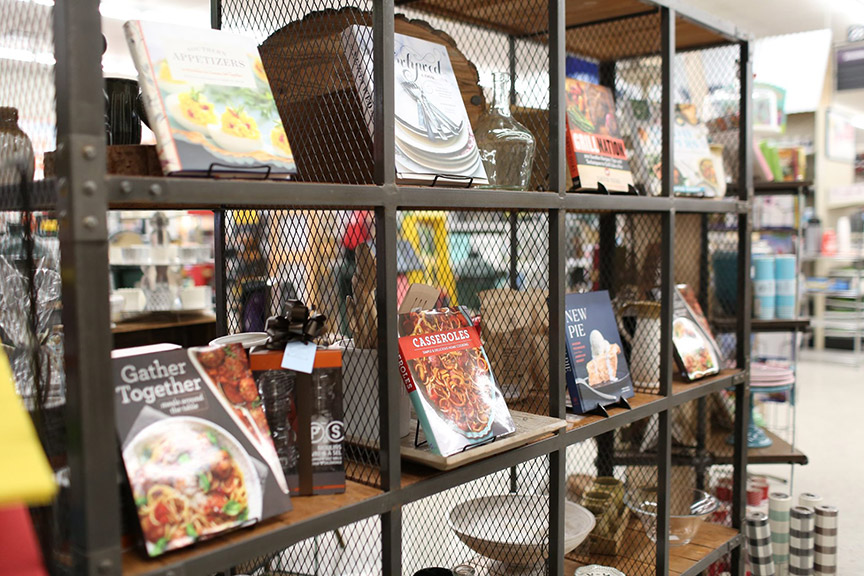 Cookbooks are a top-selling item in Revell @ Home.