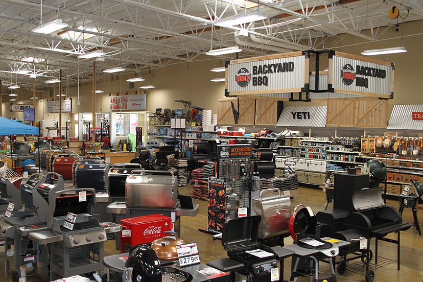The Backyard BBQ store-within-a-store concept establishes a dominant image in grilling.