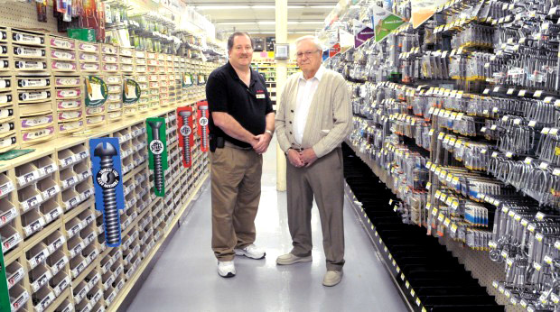 Greg Mahler (left) with his father John Mahler, who purchased the business in 1971 from founder Ivan Hoy.