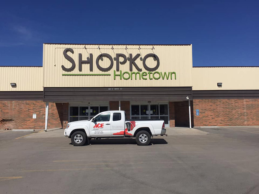 The future home of Kennedy Ace Hardware in Worland, Wyo., is a shuttered Shopko.