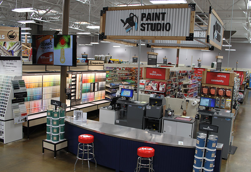 Westlake's new stores in California feature the Paint Studio format to serve as a destination for paint products.