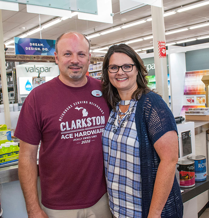 Jason and Melanie Haley of Ace Hardware of Clarkston (Mich.) are going above and beyond to serve their community with essential supplies.