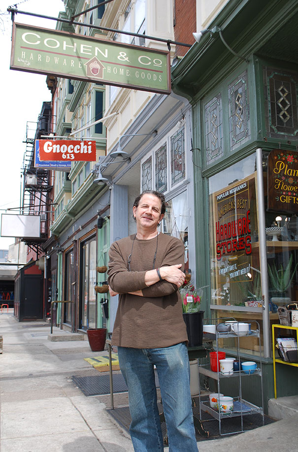Mitchell Cohen is the fourth-generation owner of Cohen & Co. Hardware in Philadelphia.