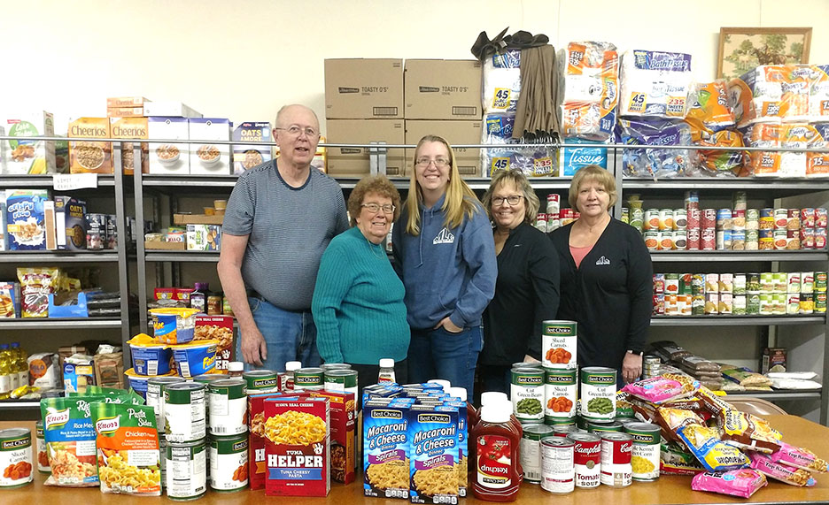 Marcus Lumber donated 100 items to a local food pantry.