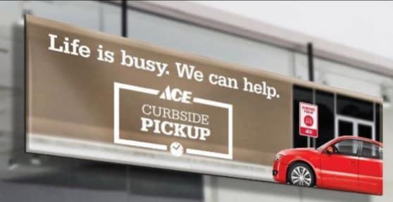Cadiz Hardware promotes its curbside pickup service on Facebook.
