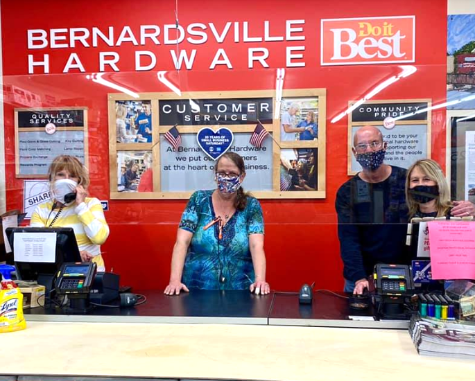 Drew and Renee Hubiak and the staff at Bernardsville Hardware are finding new ways to serve their customers in Bernardsville, N.J.