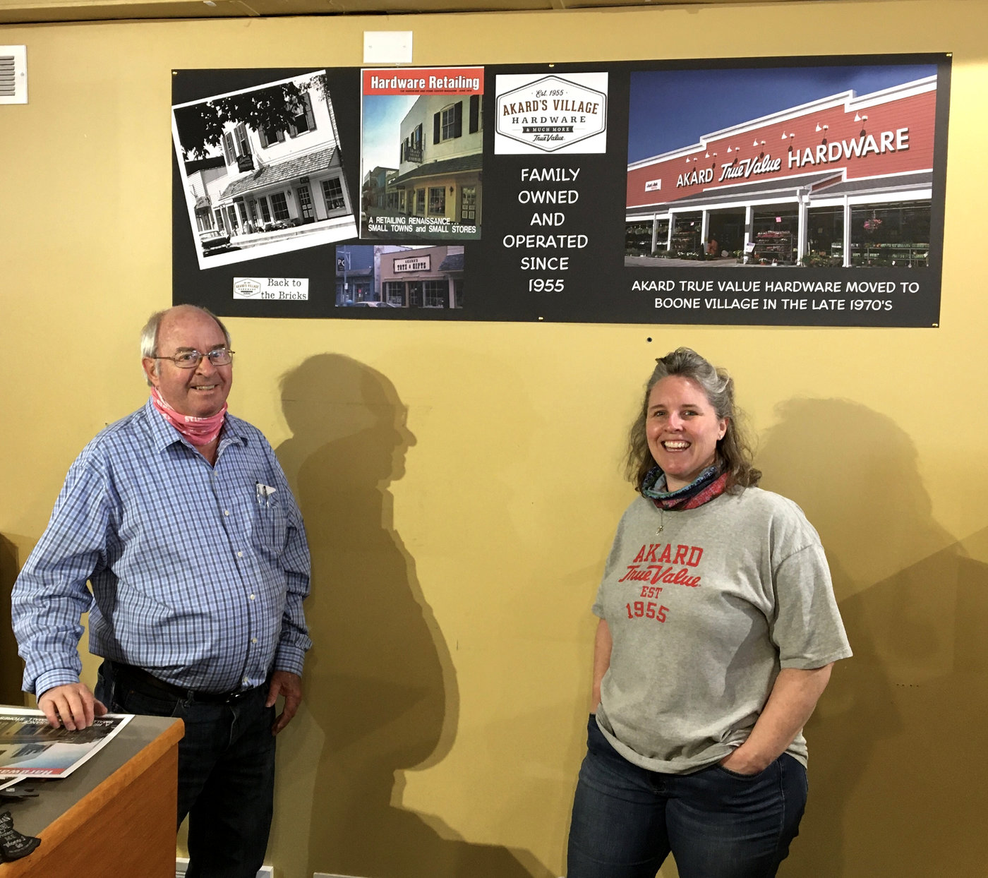 Steve and Leigh Ann Akard are celebrating the 65th anniversary of Akard True Value Hardware by opening a pop-up shop in their former location on Zionsville's Brick Street.