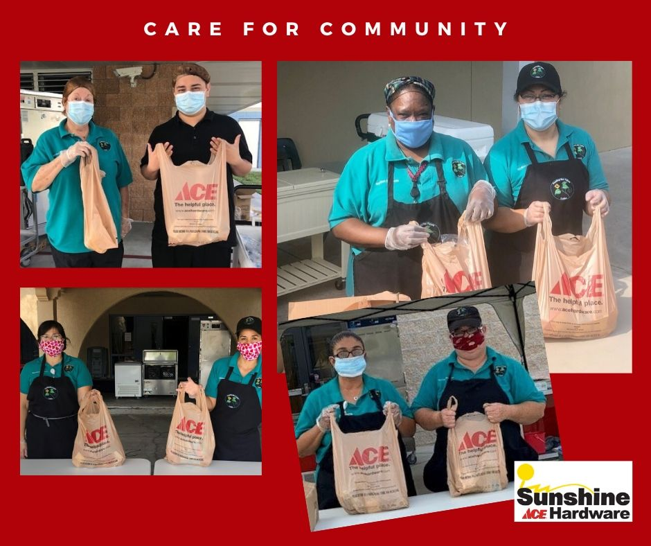 Sunshine Ace donated 100,000 bags so the Collier County School District could maintain its weekly meal program for kids.