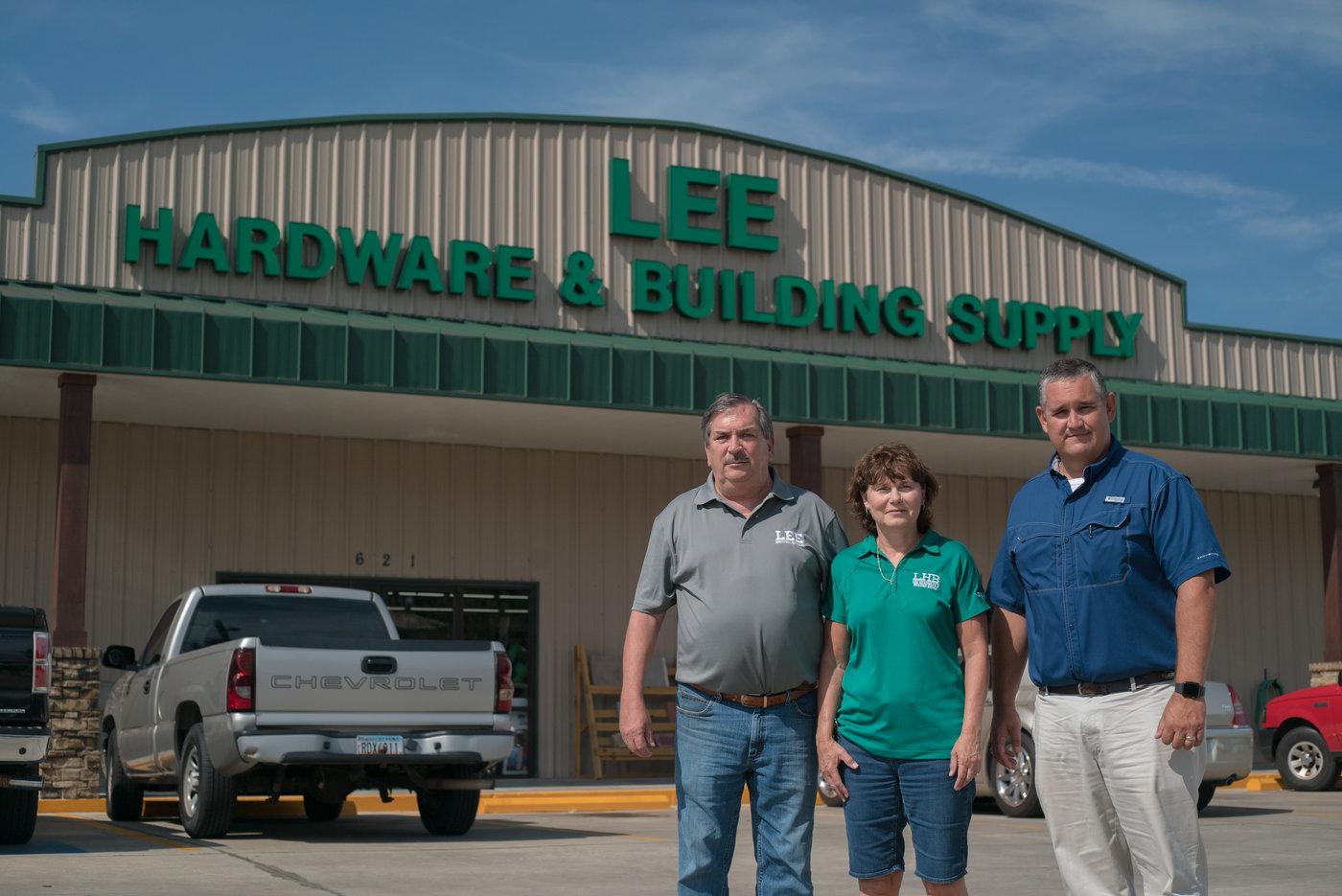 Richard Lee, Denise Lee and Jamie Bruner of Lee Hardware & Building Supply in Waycross, Ga.