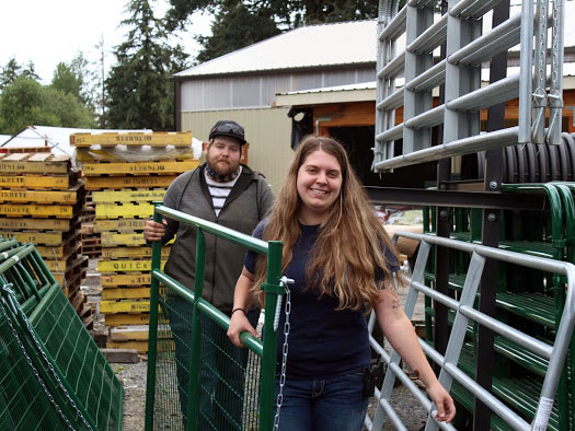 Laken Gortler and Sales Manager Larry Fair stay on top of their supply of gates at Dahlgren's Building Supply, since it's a top-selling category.