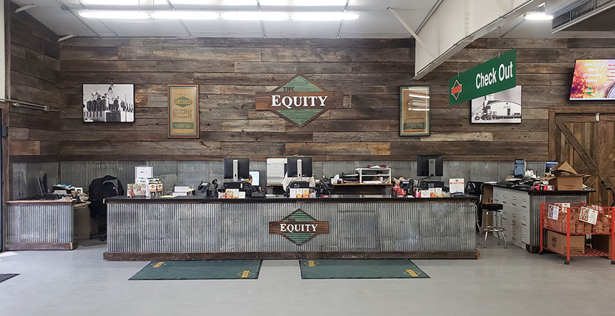 The Equity Do it center in Effingham, Ill., gets 50 percent of sales from farmers.