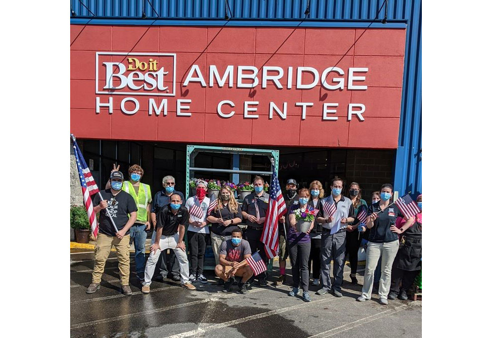 This post showing the staff of Ambridge Do it Best Home Center on Memorial Day reinforced the store's connection with the community.