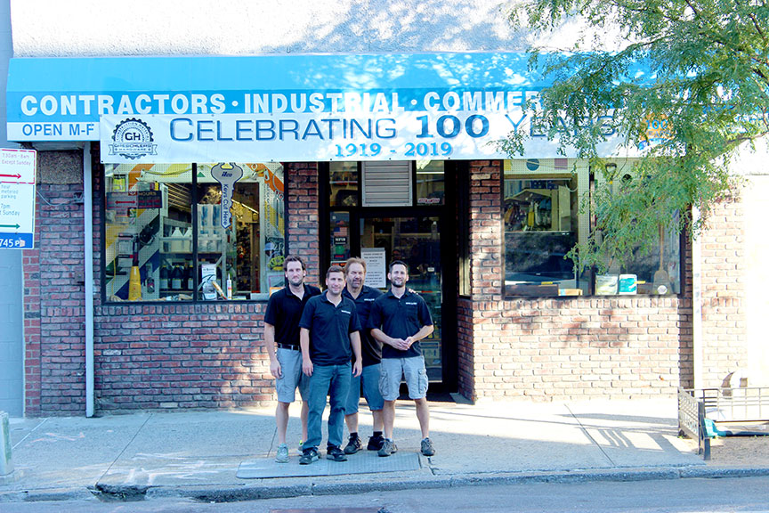 From l to r: Mike, Matt, Kevin and Greg Boyd prepared century-old Greschlers Hardware to succeed for the next century with a major expansion.