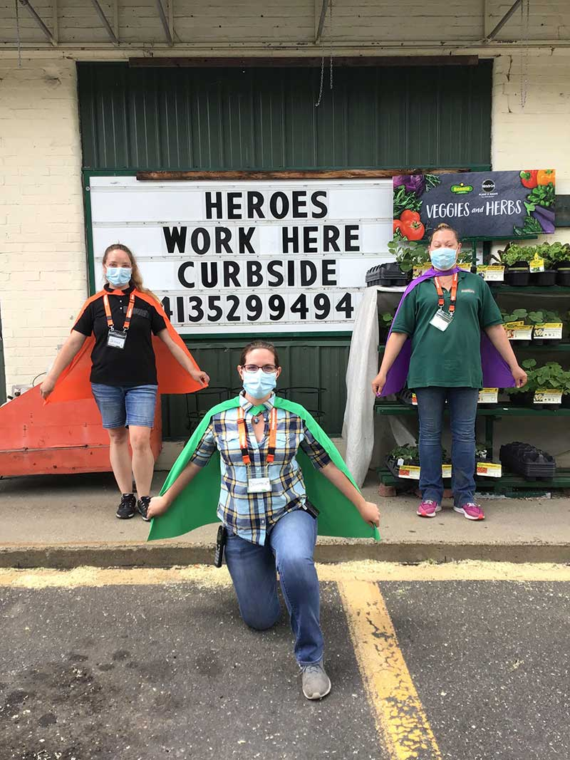 "The company Facebook page found fun ways to promote awareness of new services and safety protocols, like posting pictures of ""hero"" employees wearing capes."
