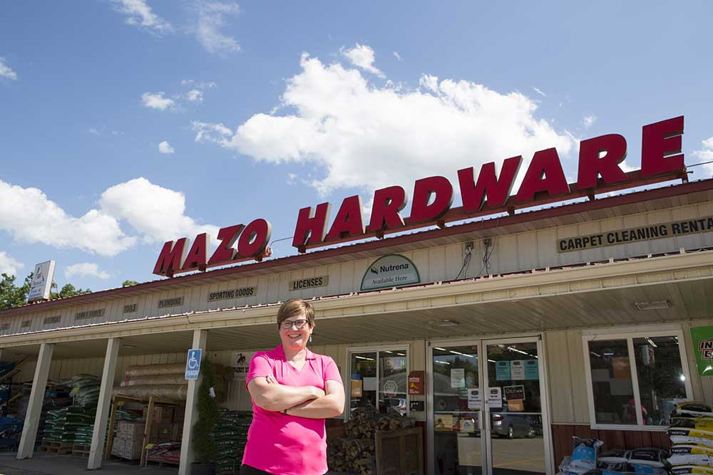 As owner of Mazo Hardware in Mazomanie, Wis., Renee Zaman has found new ways to serve her community.
