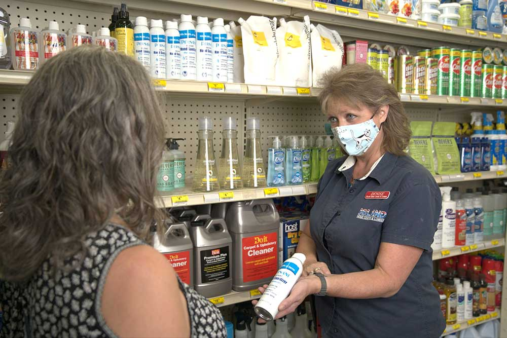During the stay-at-home order, Vashon Island residents were forced to shop local for essential items like cleaning supplies.