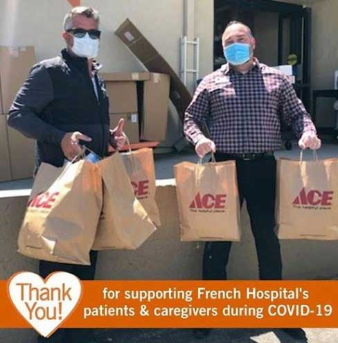 Miner's Ace made large donations of masks and other essential items to local hospitals and medical facilities.