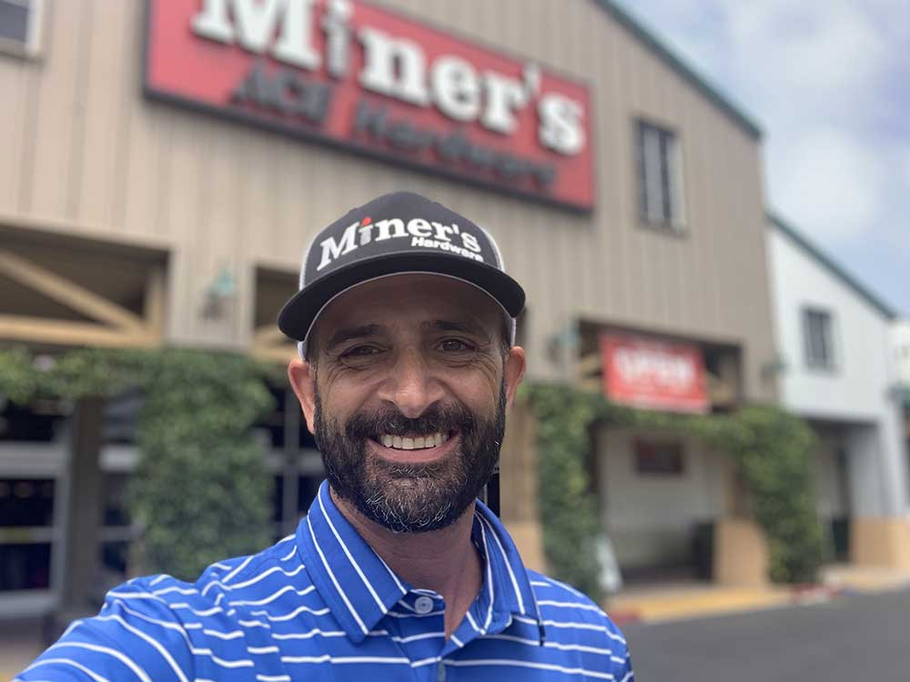 Paul Filice is president of Miner's Ace Hardware, with nine locations in California.