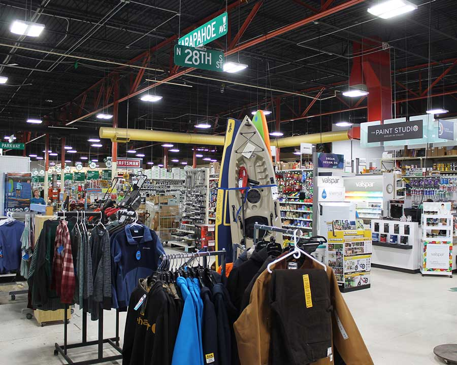 McGuckin Hardware features 18 departments offering nearly 200,000 items.