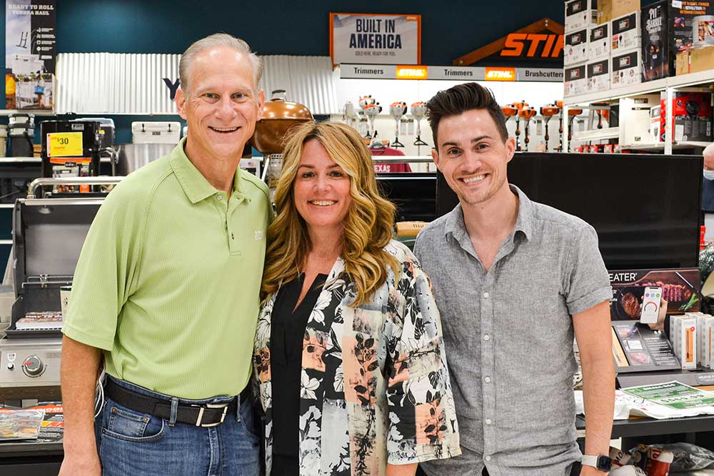Bill and Renae Jablonowski and their son Zach operate three successful Jabo's Ace stores in the Fort Worth area.