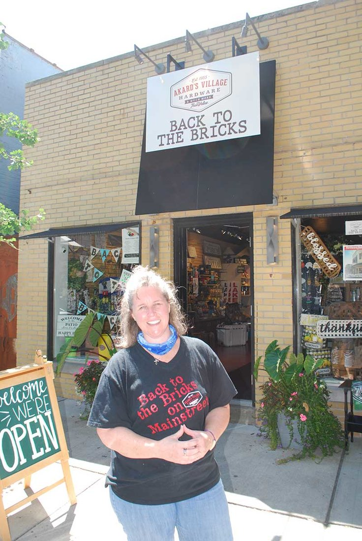 Leigh Ann Akard, the third-generation owner of Akard True Value in Zionsville, Ind., found time during the pandemic to open a second pop-up store in the business' original location on the Brick Street.