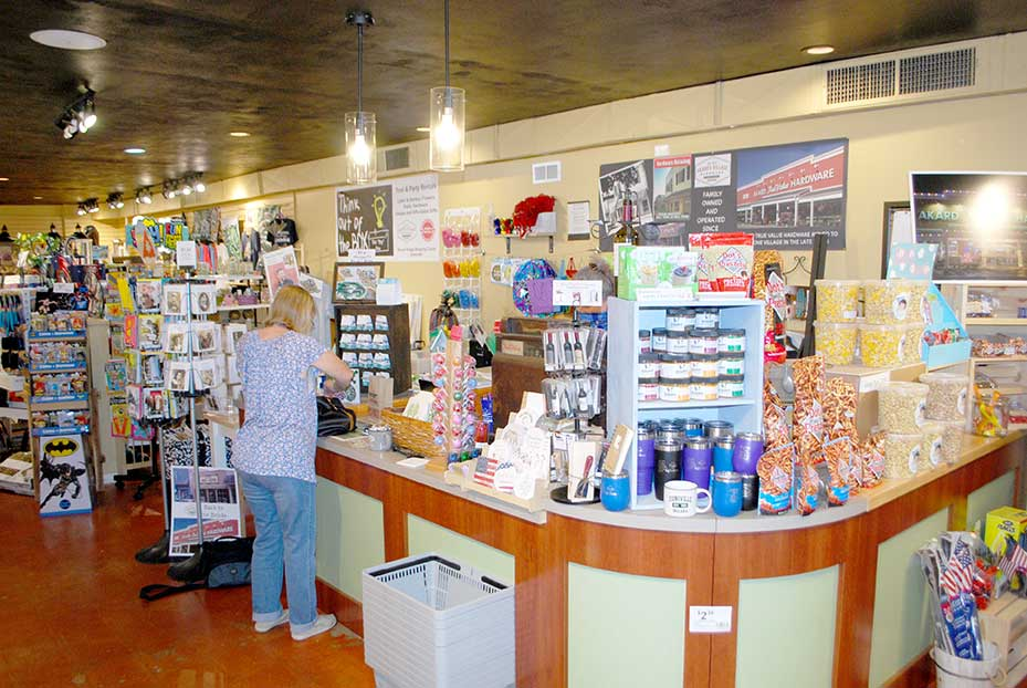 """Akard's """"Back to the Bricks"""" Village Hardware store has evolved into a neat way to commemorate the business' 65th anniversary by returning to its roots."""