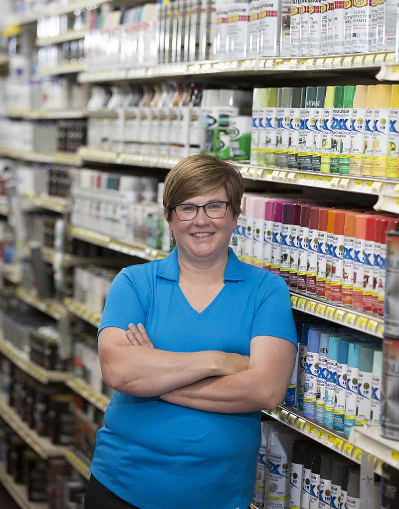 "Renee Zaman embraces her role as ""The Hardware Queen"" of Mazomanie, Wis."