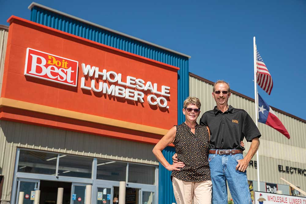 Joe and Jody Burks operate Wholesale Lumber Company in Clint, Texas, a family business started by his late father Tom in 1974.