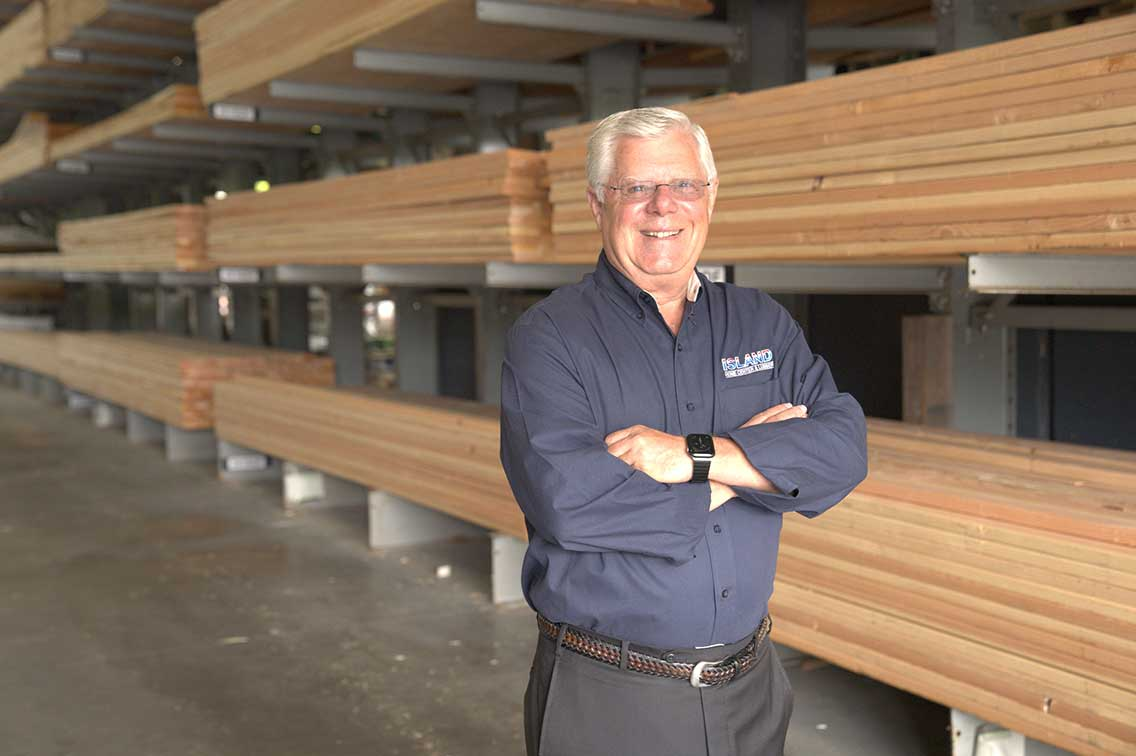 Earl Van Burkirk has owned Island Home Center & Lumber in Vashon, Wash., for 32 years.