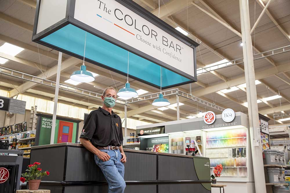 Joe Burks says a complete remodel in 2018 has made his store better equipped to serve the community during a pandemic.