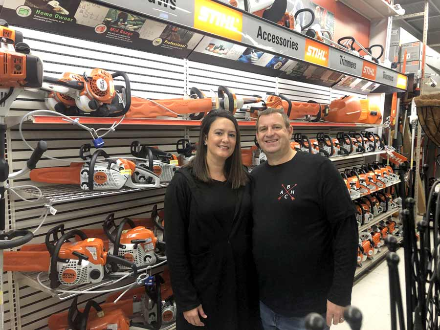 Kent Schaper and his wife Erin have worked hard to revitalize Arrowhead Hardware in Baldwin City, Kan.