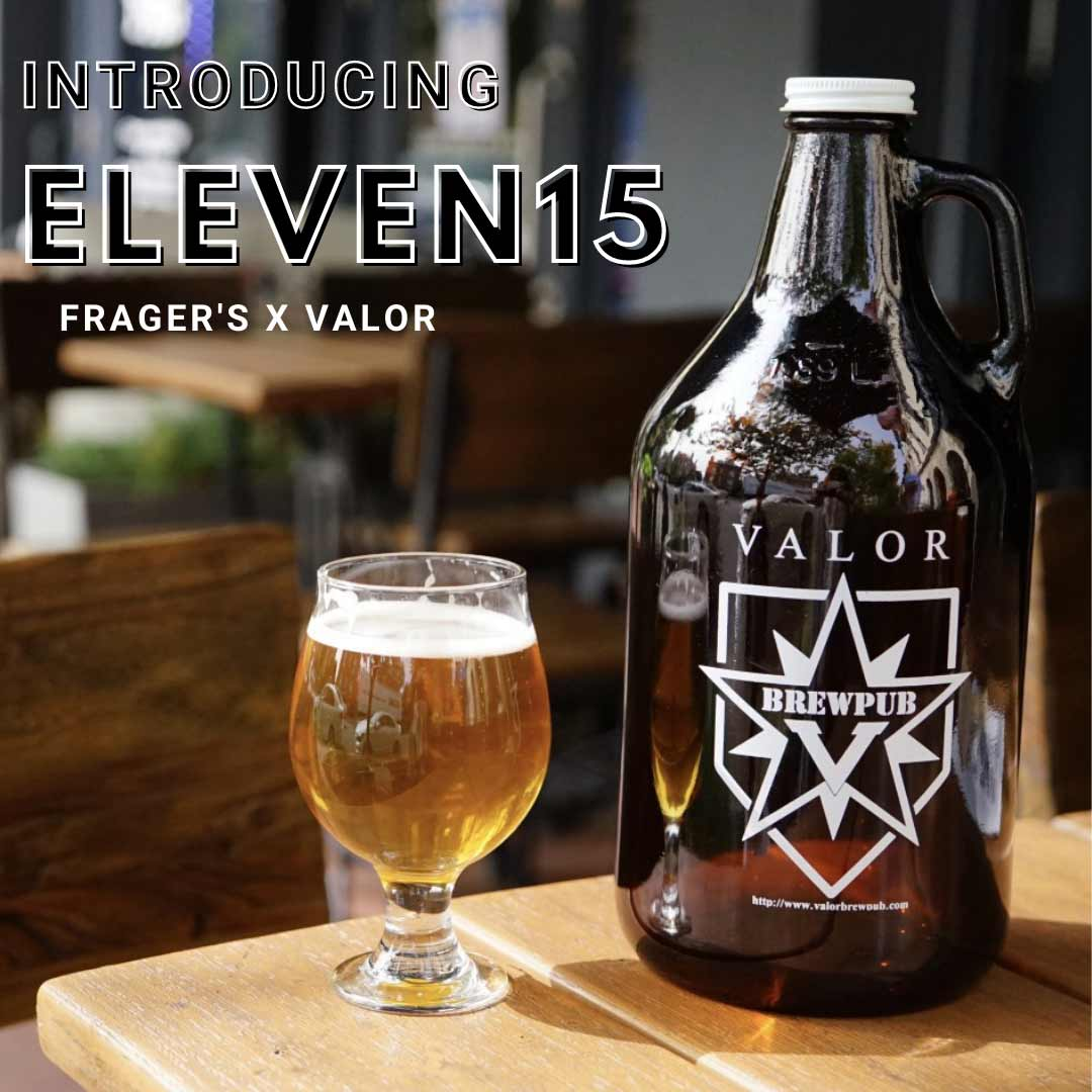 Frager's partnered with Capitol Hill's Valor Brewpub to name a beer in honor of their centennial celebration. Eleven15 represents the store's old and current address at 1115 Pennsylvania Avenue SE. Fifty cents of every draft purchased through October 31 benefitted the Frager's Fund in support of 12 local non-profits.