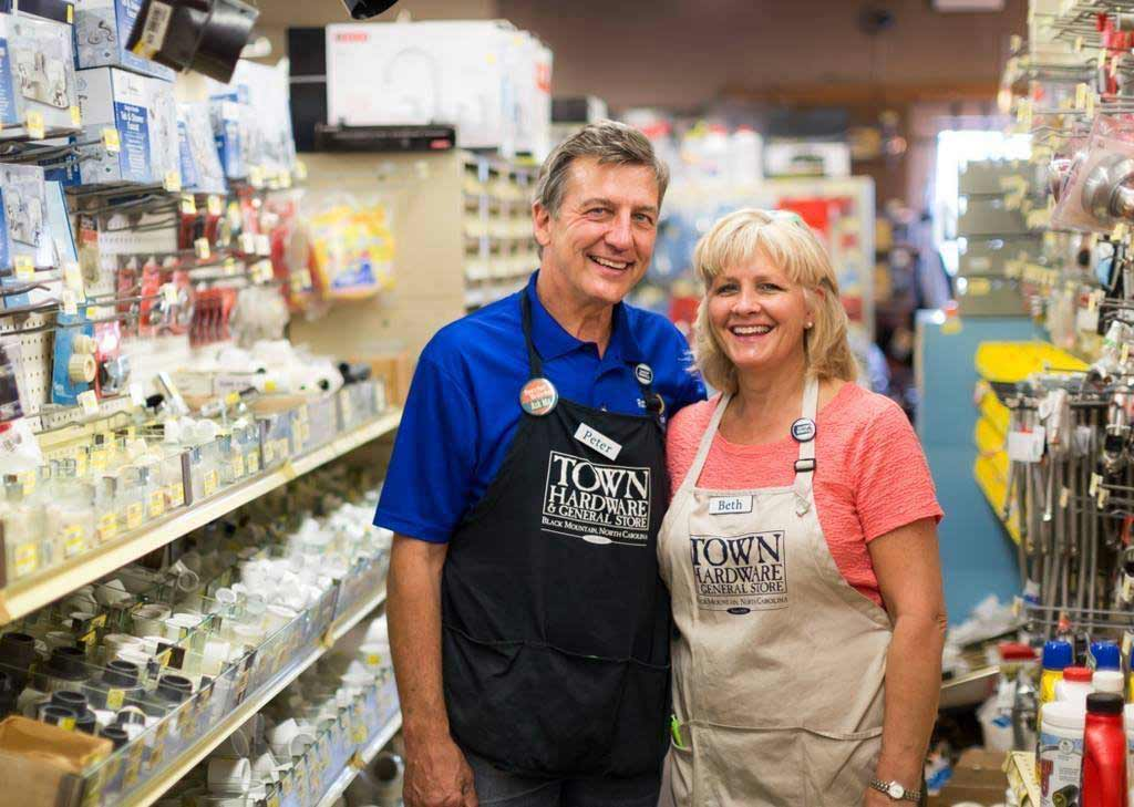 Peter and Beth Ballhaussen have relied on digital marketing tools to grow their business, Town Hardware & General Store.