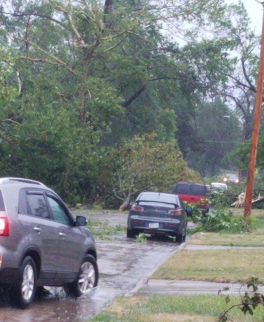 Cedar Rapid was hit hard by the derecho, which damaged two-thirds of the city's tree canopy.