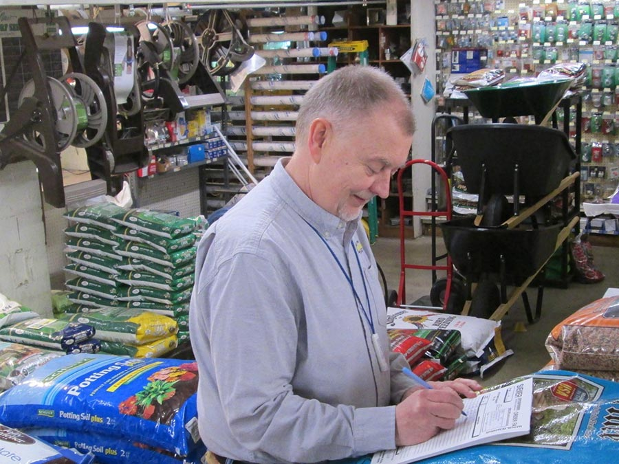 Second-generation Owner Gregg Wesche has been working at Overland Hardware since 1975.