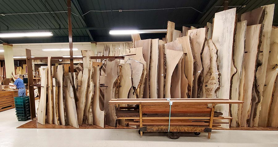 Customers can choose from more than 120 domestic and exotic hardwood species at Keim, a Century Club retailer.