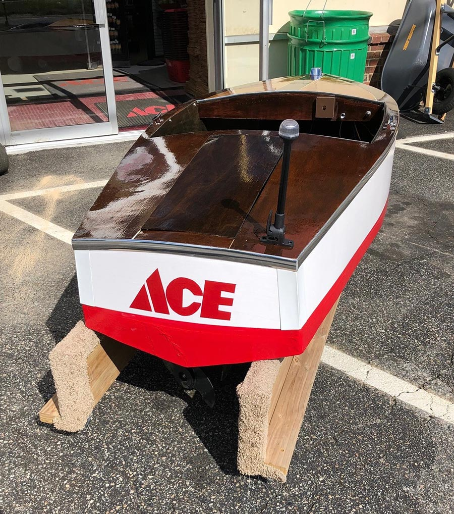This boat was given as a gift of gratitude by a customer.