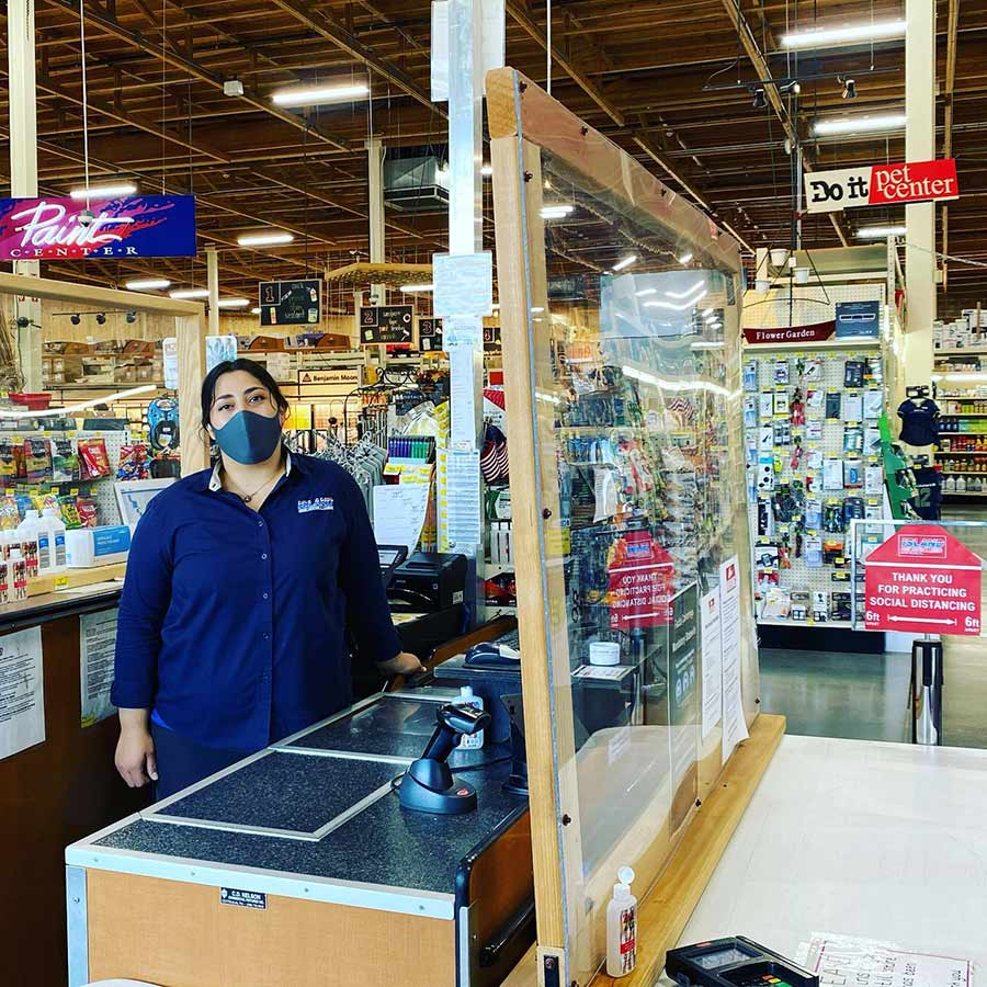 Like most retailers, Island Home Center installed plexiglass shields to protect cashiers and customers.