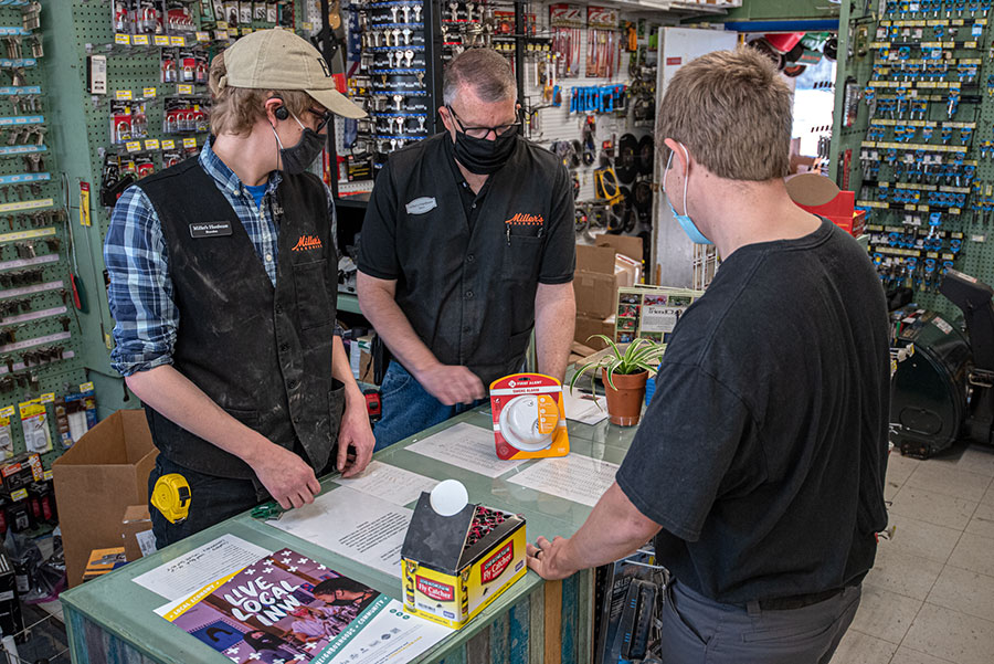 Owner Stace Heston (middle) is placing a strong emphasis on service to bring the store back to life.
