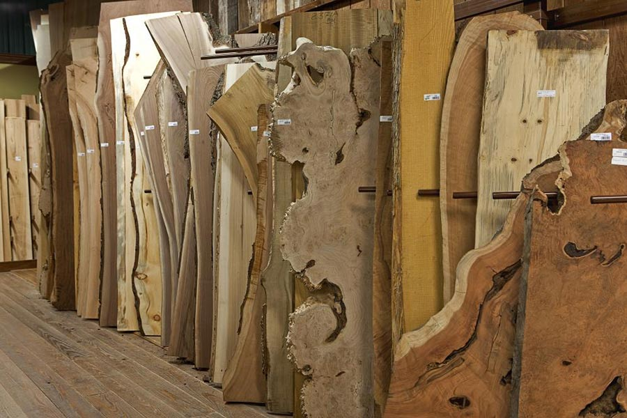 Keim in Charm, Ohio, offers live edge slabs, wood slabs, burls, table bases and turning blanks.