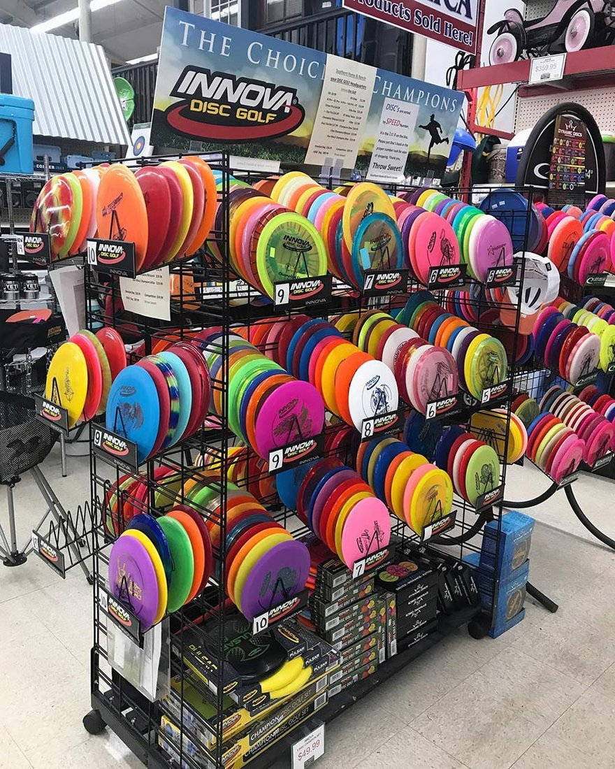 The store has become a destination for those who love playing disc golf.