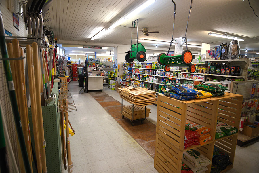 The 5,000-square-foot sales floor is still in the middle of a remodel.