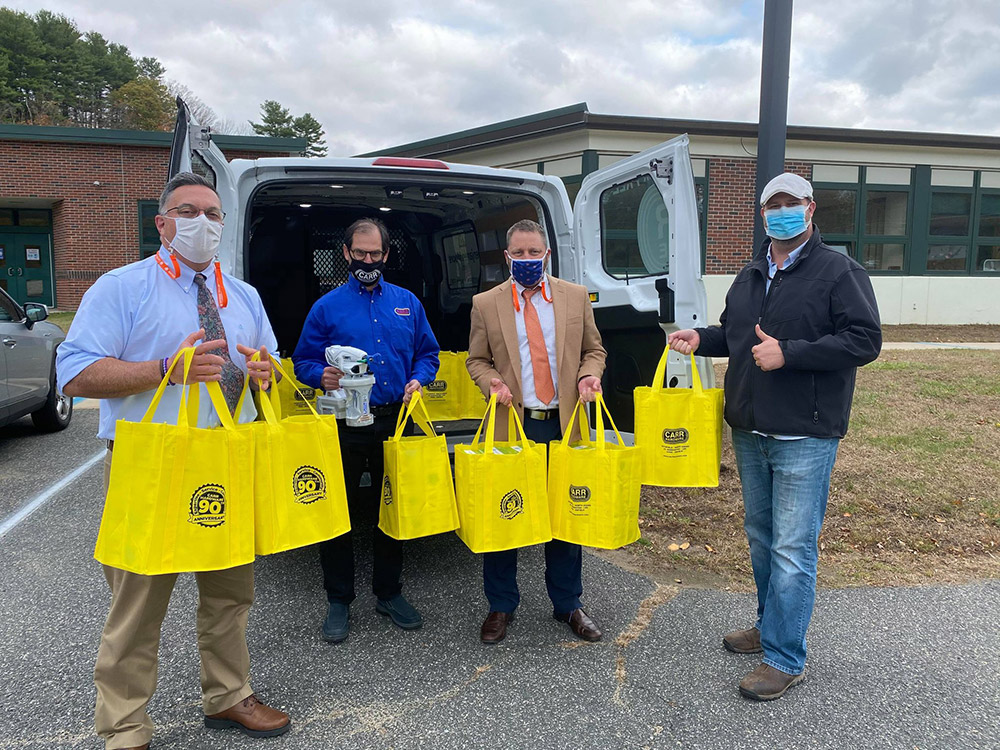 Bart Raser and Carr Hardware donated $8,500 of personal protective equipment to three local school districts.