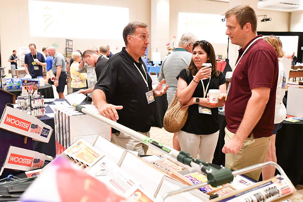 Retail attendees have a chance for one-on-one dialogue with vendors.