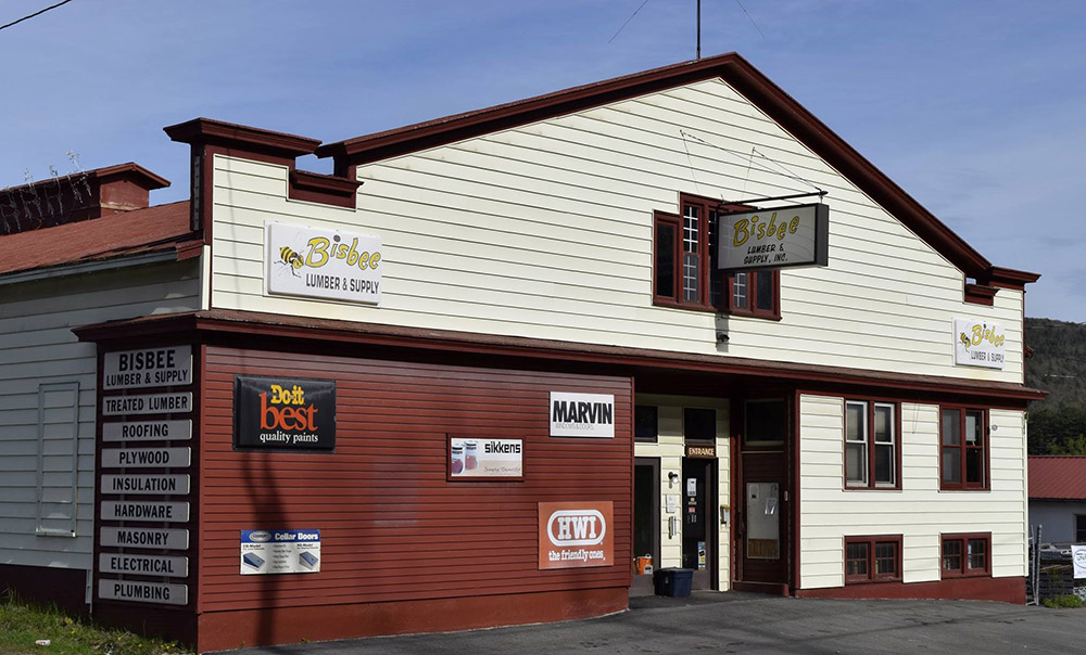 Bisbee Lumber caters to the many summer camps in the area.